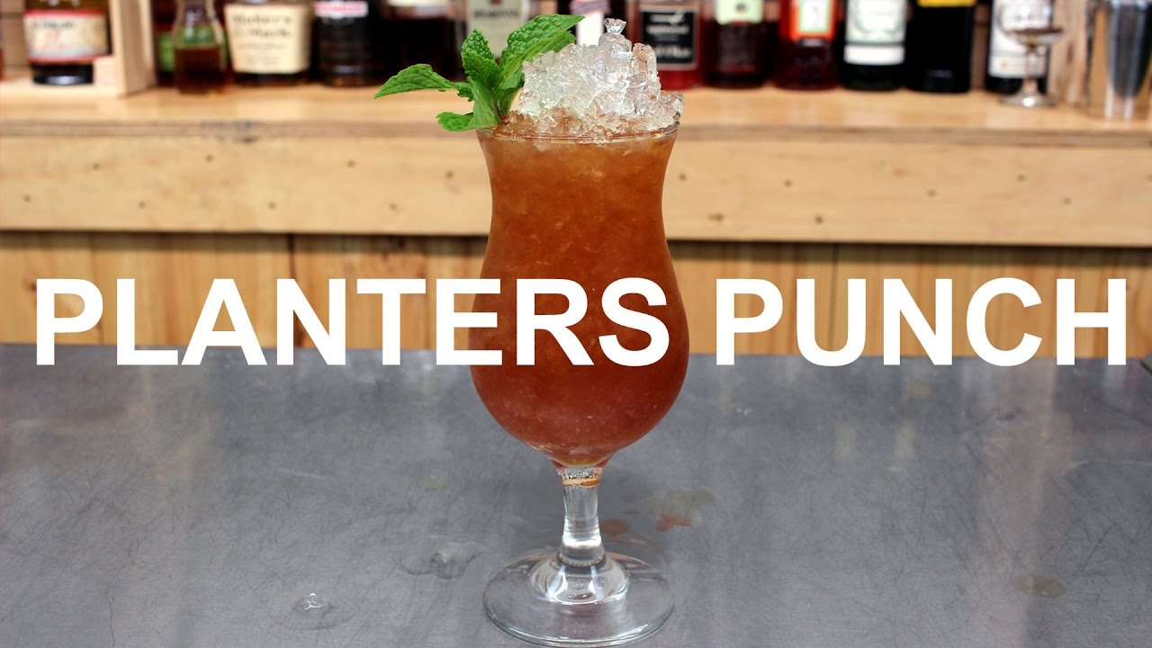 TIKI WEEK: Planters Punch tail Recipe - YouTube on
