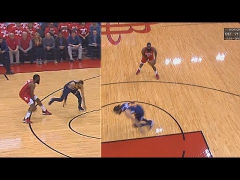 6873d50a78fd James Harden Breaks Ricky Rubio s Ankles But Misses Shot! Rockets vs Jazz  Game 2 2019 NBA Playoffs