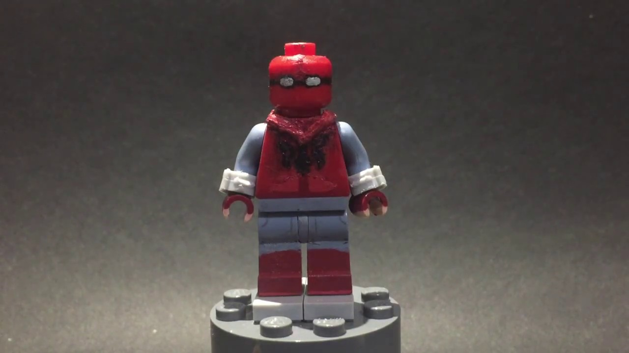 SpiderMan Homecoming Homemade Suit Custom LEGO Review - How to make homemade lego decals