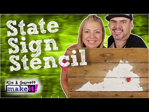 How to Stencil a Personalized Wood Sign | Virginia State Wall Art