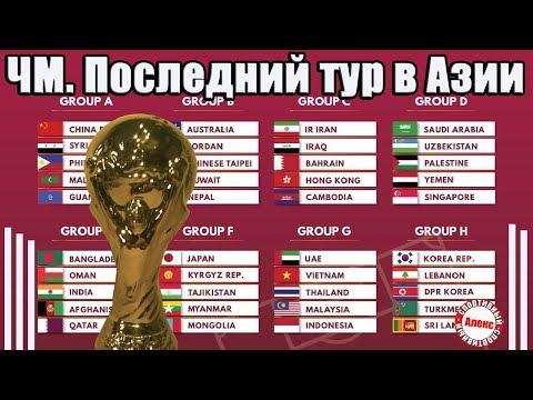 Чемпионат мира 2022. Как дела в Азии? В последнем туре выбыли 3 команды. Результаты. Таблицы.