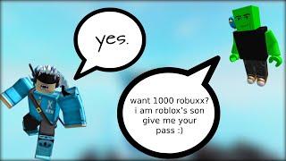 Trolling un truffatore Roblox