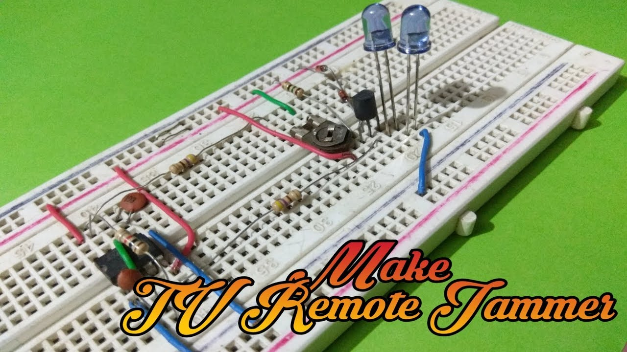 How To Make A TV Remote Jammer Circuit On Breadboard