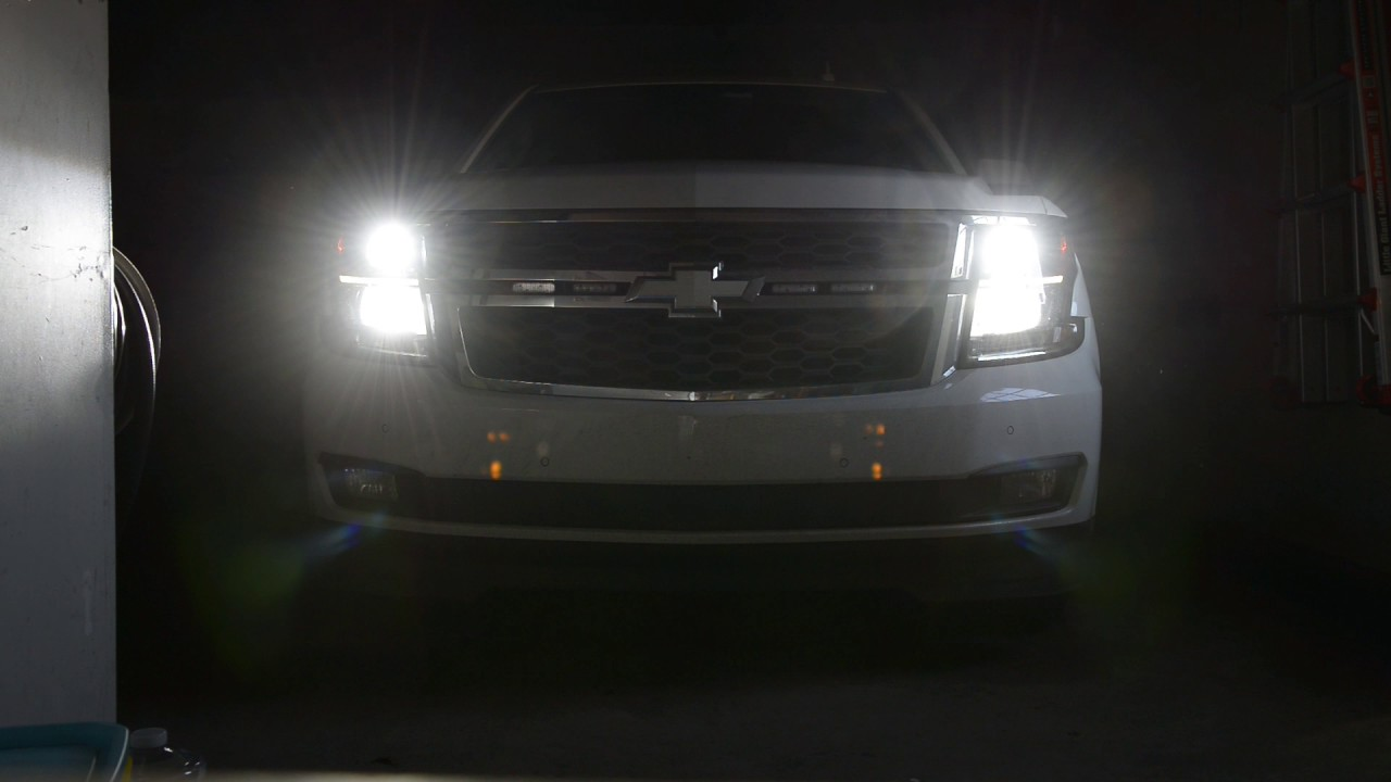 Auxbeam Series F16 LED Bulbs H11   9005 Chevy Tahoe 2015   YouTube Auxbeam Series F16 LED Bulbs H11   9005 Chevy Tahoe 2015