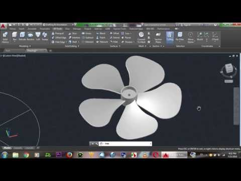 AutoCAD 3D Fan, Basic Beginner Training