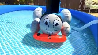 Thomas and Friends Toy Train, Disney Cars Toys Lightning McQueen in the Swimming Pool
