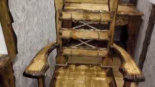 мебель из сосны на балкон. сделано своими руками.(получил заказ, почесал репку и замутил. всё из сосны., 2014-11-27T17:49:35.000Z)