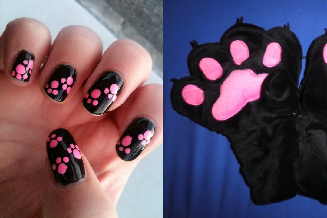 - Animal Paw Print Nail Dotting Tutorial NAV - YouTube