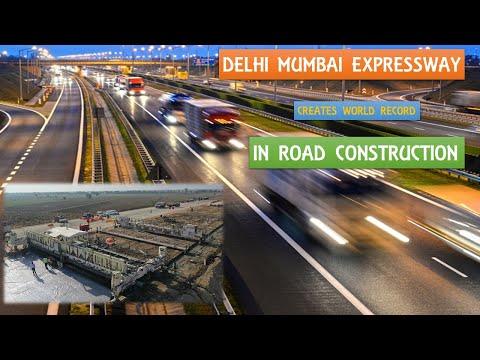 Delhi Mumbai Expressway creates world record in Road Construction   Papa Construction