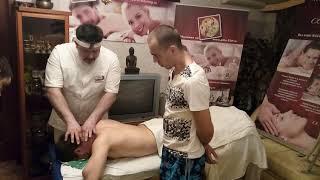 Мануальный массаж шейно воротниковой зоны. Сет №1 - Подготовка положения клиента.