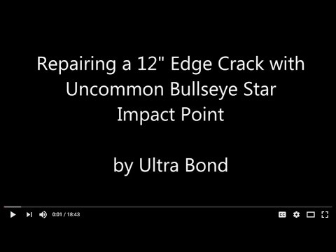 12 Inch Edge Crack with Unusual Star Impact Point