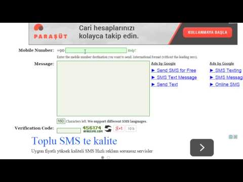 Ücretsiz SMS Yollamak  - Bilgisayardan Telefona Mesaj Sınırsız