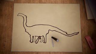 Alex shows the Boys what a true Brachiosaurus looks like...