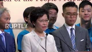 Hong Kong  New chief executive Lam vows to 'heal the divide' after election win