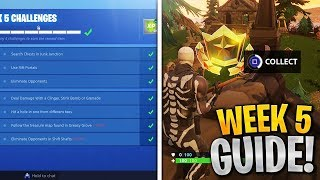 Week 5 Challenges Guide! Follow the Treasure Map found in Snobby Shores, Hit a Golf Ball, Fortnite!