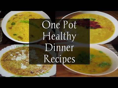 4 Easy One Pot Indian Dinner Recipes| Indian Veg Dinner Recipes|4 Indian Dinner For Weight Loss