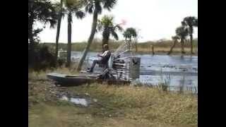 Li'l Gator Airboat Test Run on Water and Land
