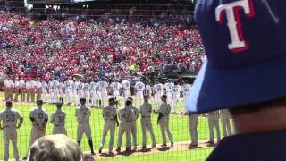 Opening Day 2016 Texas Rangers Player Introductions