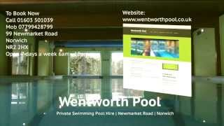 Wentworth Pool fully heated, private hire indoor swimming pool in Norwich, Norfolk, East anglia
