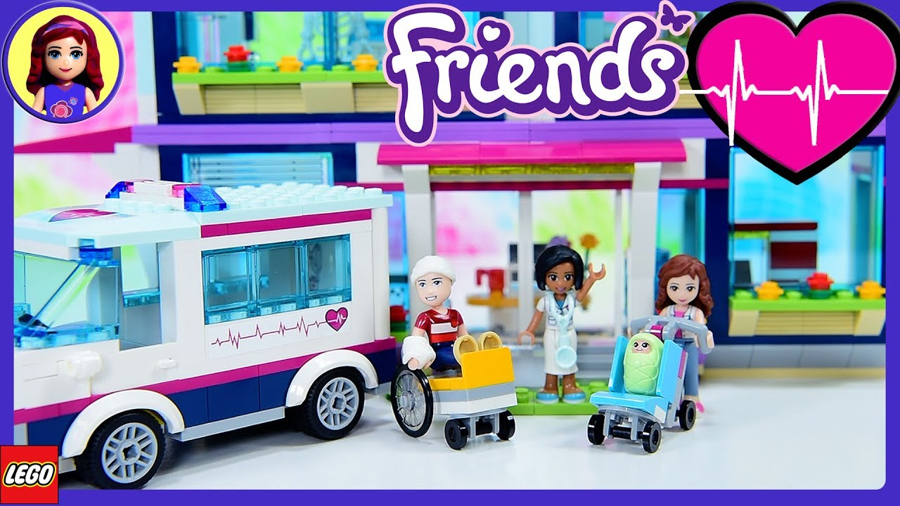 Lego Friends Heartlake Hospital Part 1 Build Review Silly Play Kids