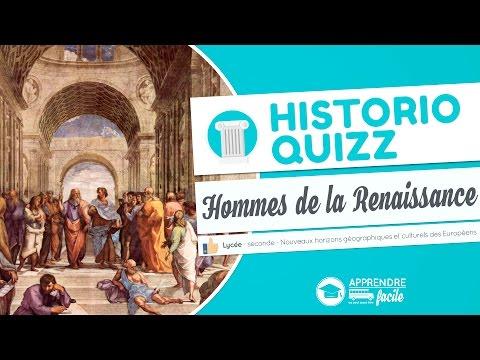 Quizz - Les hommes de la Renaissance