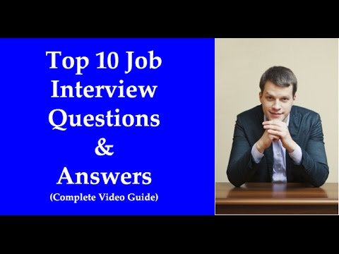 Top 10 Most Common job Interview Questions and Answers - YouTube