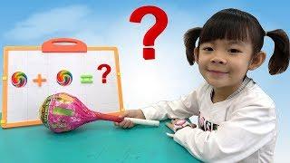 Bóc Kẹo Mút Khổng Lồ - Học Toán Với Kẹo Mút ❤ AnAn ToysReview TV ❤