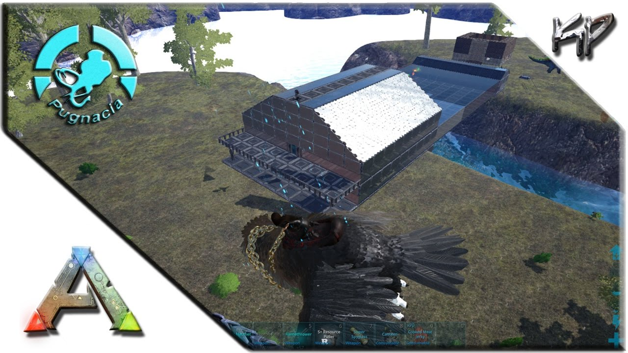 ark survival evolved s2 ep10 tek base roof pugnacia game play - Ark Sloped Roof