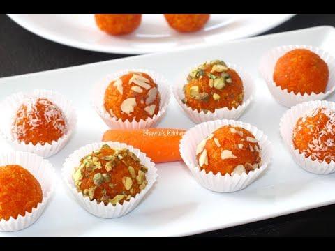 Carrot Truffles | Gajar Laddu Video Recipe | Bhavna's Kitchen