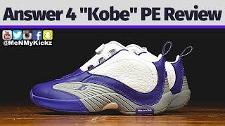 "Reebok Answer 4 ""Kobe Bryant PE""  Review + On Foot · A4 Lakers Edition On Feet · Rbk IV Black Mamba"
