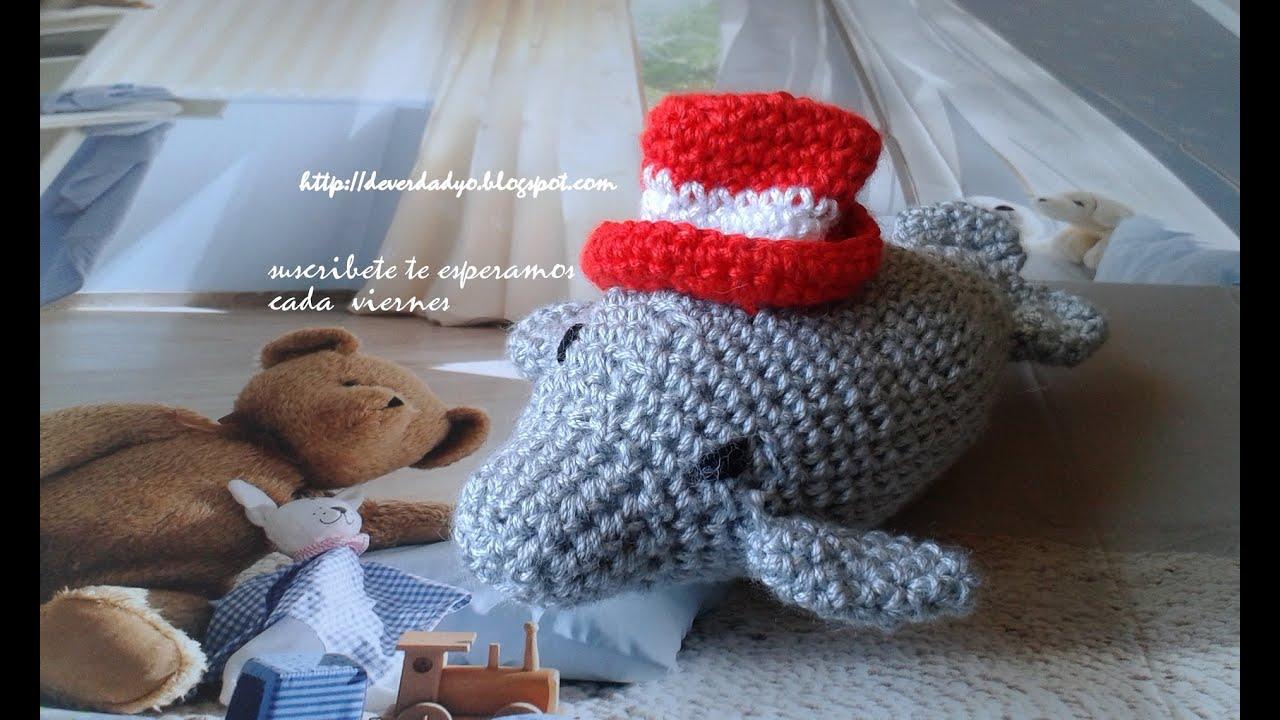 Como hacer un delfin de ganchillo crochet amigurumi para - Como hacer tapetes de ganchillo ...