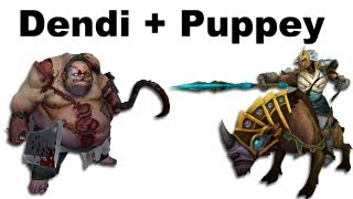 Dendi Pudge Puppey Chen fountain hooking - NaVi vs TongFu - ...