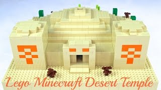 LEGO Minecraft DESERT TEMPLE plus INTERIOR - Custom MOC!!