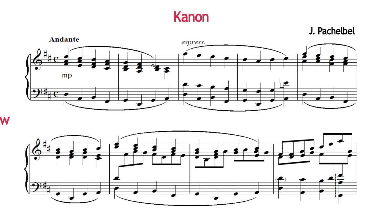 Johann Pachelbel Cannon In D Piano Solo Free Sheet Music