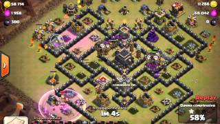 Clash of clans, 3 stelle in clan war con Mastini e mongolfiere (variante Golem)