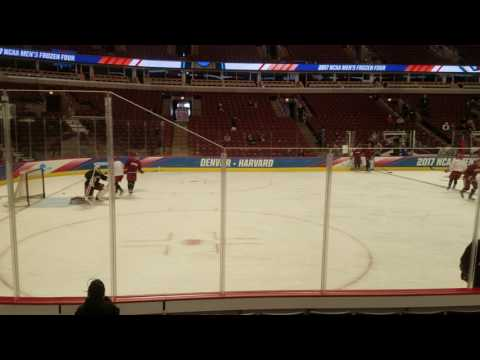 Harvard practices at the United Center