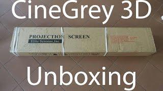 Elite Screens CineGrey3D Unboxing + Aufbau