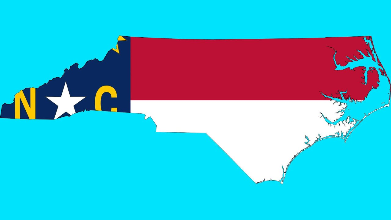 NC Flag Map  YouTube