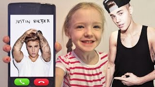 Prank Calling Justin Bieber *OMG* He Answers - Rude to His Fan - I Sing Love Yourself