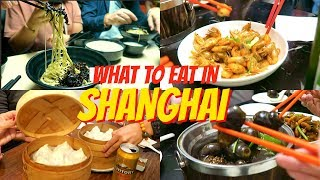 SHANGHAI FOOD TOUR 2017 | Chinese Food | Bilingual中英 | 上…