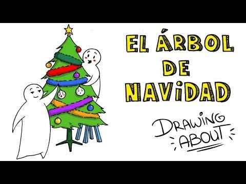 EL ORIGEN DEL ÁRBOL DE NAVIDAD 🎄 | Draw My Life (Hacemos adornos de TikTak Draw DIY)