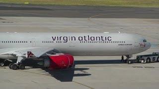 Virgin Atlantic Farewell from Sydney Australia