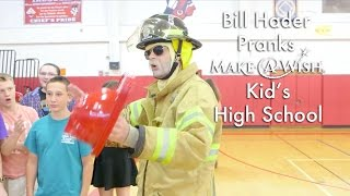 Bill Hader Pranks Make-A-Wish Kid's High School as Firefighter: Wish Granted