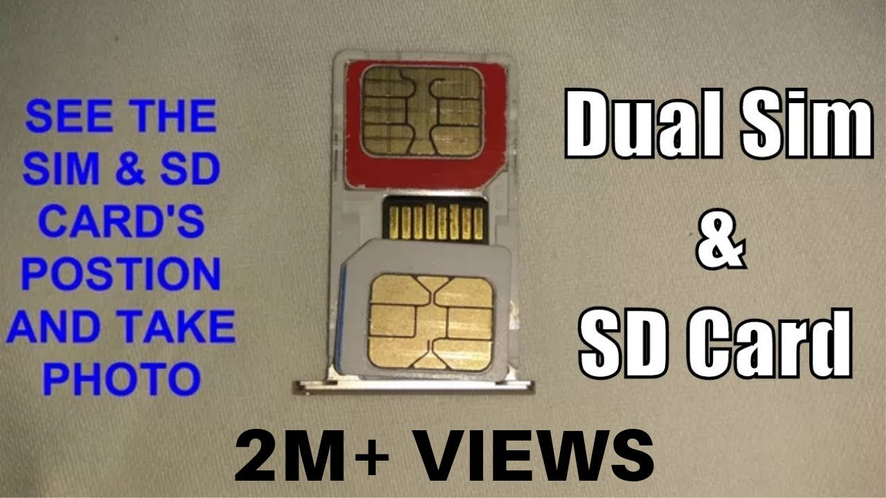 How To Insert Dual Sim With Micro Sd Card In Hybrid Slot 2019
