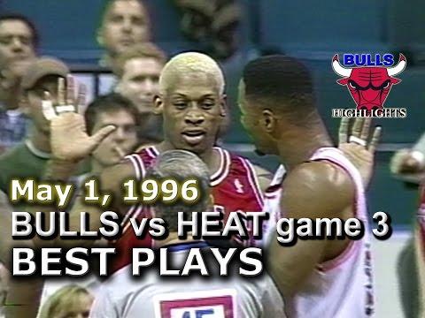 May 01 1996 Bulls vs Heat game 3 highlights