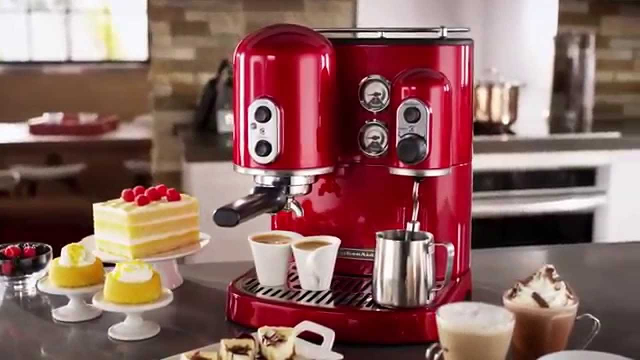 kitchenaid espresso k vovar artisan 5kes2102eac youtube. Black Bedroom Furniture Sets. Home Design Ideas