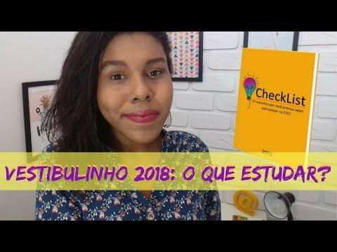 VESTIBULINHO 2018 | GUIA COMPLETO DO QUE ESTUDAR PARA O VESTIBULINHO 2018 DA ETEC