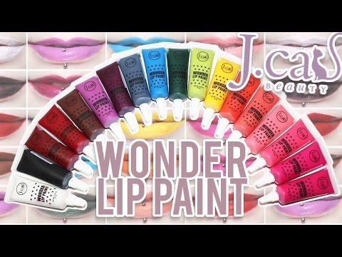 Review Swatches J Cat Beauty Wonder Lip Paints 18 Shades