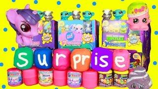 New Fashems Play-Doh Surprise MLP LPS Shopkins Season 2 Huevos Sorpresa de Plastilina Toys Eggs