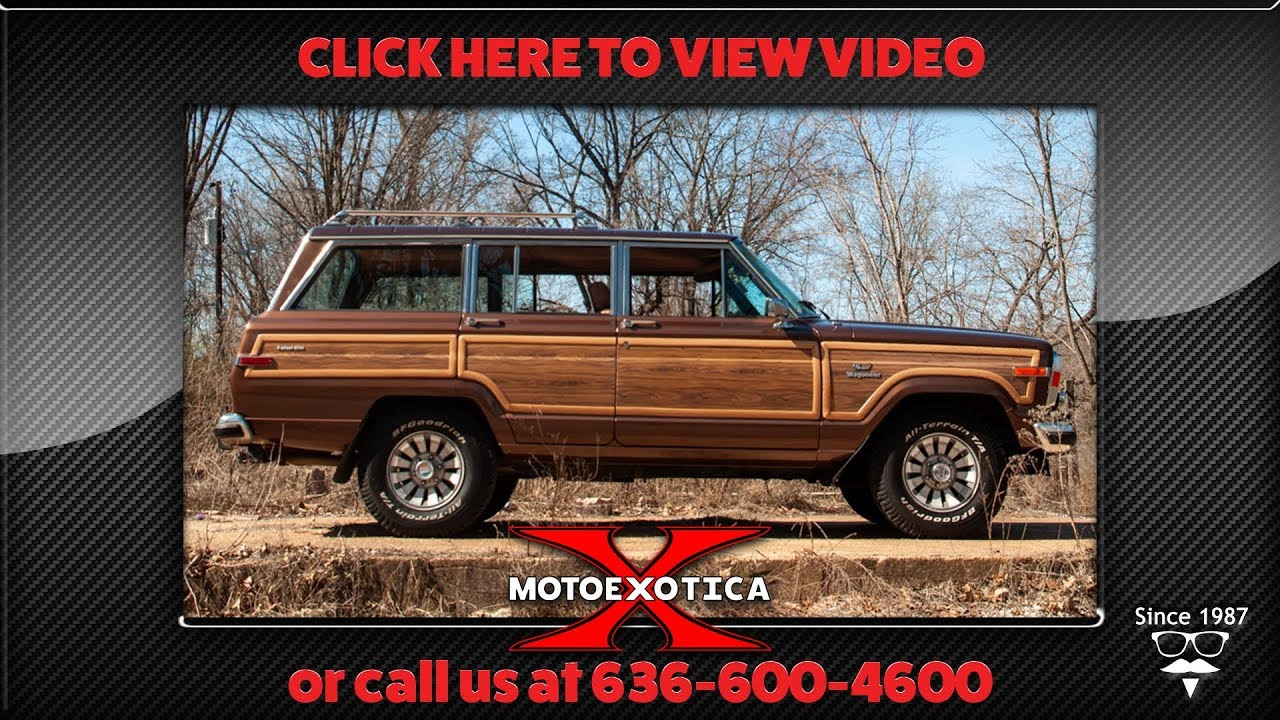 1985 Jeep Grand Wagoneer 4x4 (SOLD)